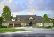 Country House Plan - Napa 30-991 - Front Elevation