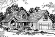 Country House Plan - Norkenzie 50-006 - Front Elevation