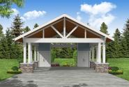 Carport Plan 20-316 - Front Elevation