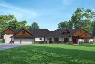 Craftsman House Plan - Hickory Creek 30-848 - Front Elevation