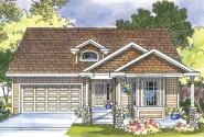 Craftsman House Plan - Bergstrom 30-206 - Front Elevation