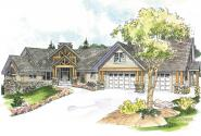 Craftsman House Plan - Brycewood 30-609 - Front Elevation