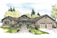 Craftsman House Plan - Heartcrest 10-526 - Front Elevation