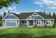 Craftsman House Plan - Mossy Point 30-900 - Front Elevation