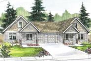 Duplex Plan - Donovan 60-007 - Front Elevation