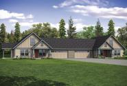 Dupliex House Plan - Archwood 60-048 - Front Exterior