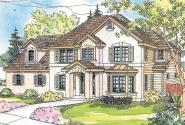 European House Plan - Gerabaldi 30-543 - Front Elevation