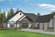 Farmhouse Plan - Ponderosa 31-192 - Front Elevation
