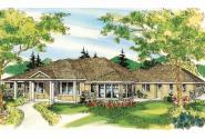 Florida House Plan - Cloverdale 30-682 - Front Elevation