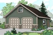 Garage Plan 20-005 - Front Elevation