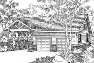 Garage Plan 20-021 - Front Elevation