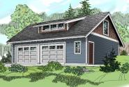 Garage Plan 20-049 - Front Elevation