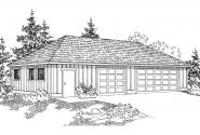 Garage Plan 20-050 - Front Elevation
