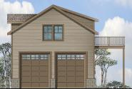 Garage Plan 20-063 - Front Elevation