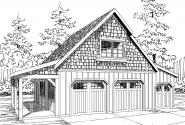 Garage Plan 20-100 - Front Elevation