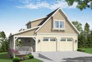 Garage Plan 20-318 - Front Elevation