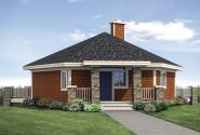 Hexagonal House Plan - Thimbleberry 10-584 - Front Exterior