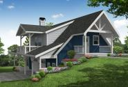 Cottage House Plan - Glencove 31-183 - Front Elevation