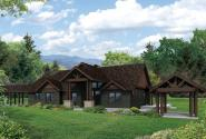 Lodge Style House Plan - Cedar Height 30-975 - Front Elevation