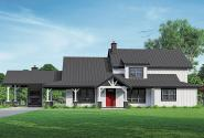 Lodge House Plan - Wind River 31-241 - Front Elevation