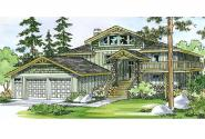 Lodge Style House Plan - Catkin 30-152 - Front Elevation