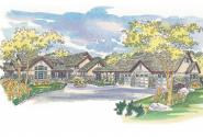 Lodge Style House Plan - Everheart 10-440 - Front Elevation