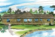 Lodge Style House Plan - Ridgeline 10-062 - Rear Elevation