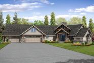 Lodge Style House Plan - Silverton 30-757 - Front Elevation