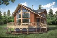A-Frame House Plan - Timber Hill 31-122 - Front Exterior