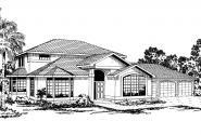 Mediterranean House Plan - Amherst 11-030 - Front Elevation