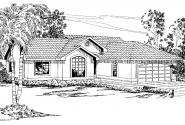 Mediterranean House Plan - Florosa 11-090 - Front Elevation