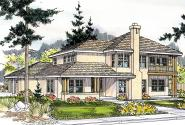 Mediterranean House Plan - Hazleton 30-304 - Front Elevation