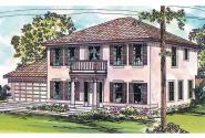 Mediterranean House Plan - Houston 11-044 - Front Elevation