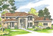 Mediterranean House Plan - Lucardo 30-181 - Front Elevation