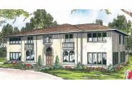 Mediterranean House Plan - Moderna 30-069 - Front Elevation