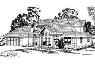 Mediterranean House Plan - San Antonio 11-053 - Front Elevation