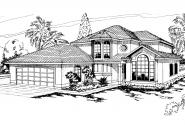 Mediterranean House Plan - Sequoia 11-013 - Front Elevation