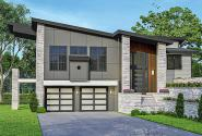 Modern House Plan - Cliffside 31-242 - Front Elevation
