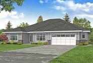 Prairie House Plan - Rosebay 31-203 - Front Elevation