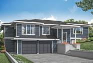 Prairie House Plan - Staghorn 31-168 - Front Elevation