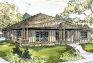 Prairie Style House Plan - Sahalie 30-768 - Front Elevation