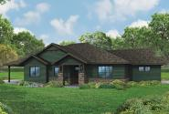 Ranch House Plan - Baileyville 30-976 - Front Elevation