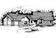 Ranch House Plan - Beaumont 10-052 - Front Elevation