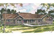 Ranch House Plan - Burlington 10-255 - Front Elevation