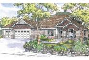Ranch House Plan - Chadbryne 30-577 - Front Elevation