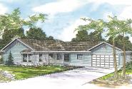 Ranch House Plan - Corinth 30-325 - Front Elevation