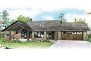 Ranch House Plan - Elk Lake 30-849 - Front Elevation
