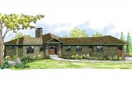 Ranch House Plan - Heartview 50-015 - Front Elevation
