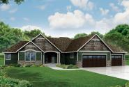 Ranch House Plan - Little Creek 30-878 - Front Elevation