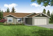 Ranch House Plan - Wapato 31-210 - Front Elevation